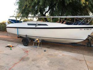 26 foot McGregor Sailboat trailer and 9.9 hp Mercury motor for Sale in Phoenix, AZ
