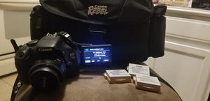 CANON REBEL T3i/4 BATTERIES/CHARGER/32GB CARD + ACCESSORIES for Sale in Jacksonville, FL