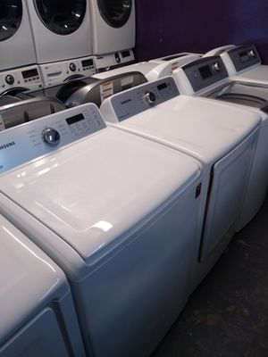 🎁Samsung large capacity top loads washer and dryer electric $500 for Sale in Houston, TX