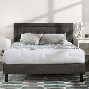 Upholstered Platform Bed Frame, Grey, King for Sale in Cleveland, OH