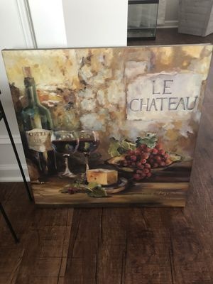 Canvas wine painting for Sale in Chapin, SC