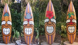 Happy Face Tribal Tiki Surfboard for Sale in Roseville, CA