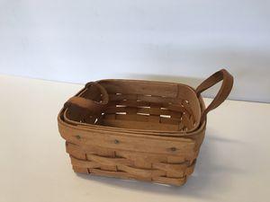 Vintage Longaberger Basket 5.5 X 2.5 for Sale in Jurupa Valley, CA