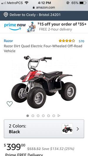 Razor 4 wheeler Off Road Dirt Bike for Sale in Woodbridge, VA