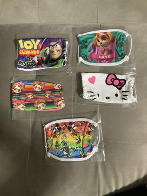 Child's face mask washable only four dollars each pick up at 24th in San Antonio SANJOSE for Sale in San Jose, CA