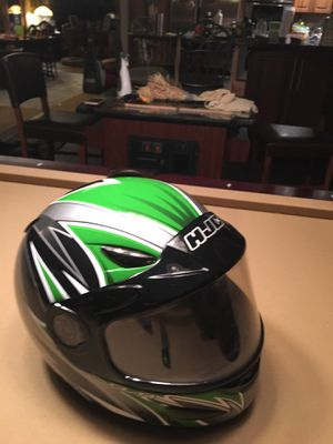 Snowmobile helmets GMax make an offer. The black one has a full face lift, good for smokers. Green & Blue are xxl. Black is medium. for Sale in Mount Pocono, PA