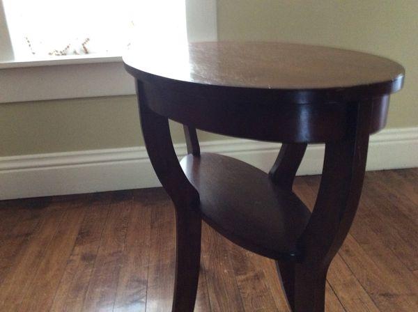 Scandinavian style wood side table