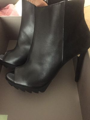 Bcbg boot peep toe goat leather black! Size 8.5 for Sale in San Diego, CA