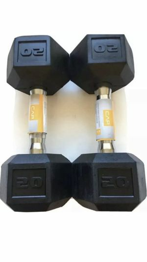 20lb rubber hex dumbbells for Sale in Modesto, CA
