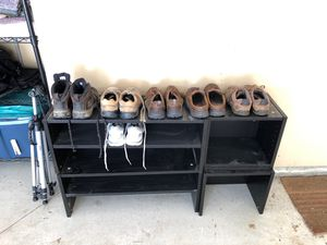 Shoe shelves - holds 50 pairs or bookshelves for Sale in Westerville, OH