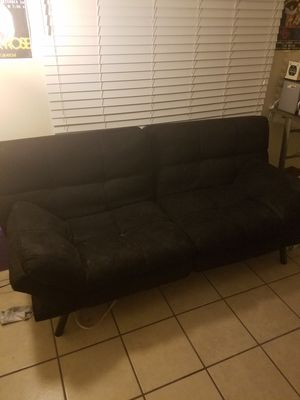 Black adjustable futon couch for Sale in Mesa, AZ