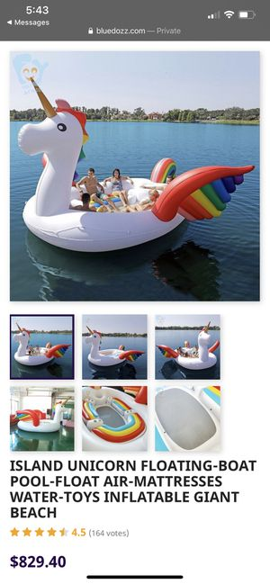 NEW Unicorn float boat float toy pool float for Sale in Chicago, IL