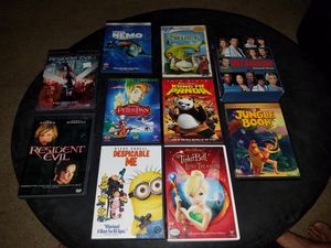 Disney and Resident Evil plus some DVDs for Sale in Fresno, CA