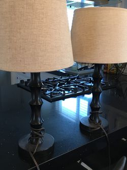 """Modern Lamp Set 24"""" Inch Height Excellent Condition for Sale in Fresno,  CA"""