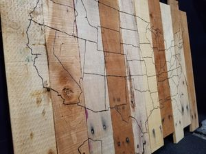 Pallet wood USA map for Sale in NEW CUMBERLND, PA