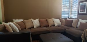 Sectional Couch and Ottoman for Sale in Temecula, CA