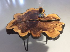 Rustic End Table, Live Edge, Cedar, Night Stand, Coffee Table for Sale in Miami, FL