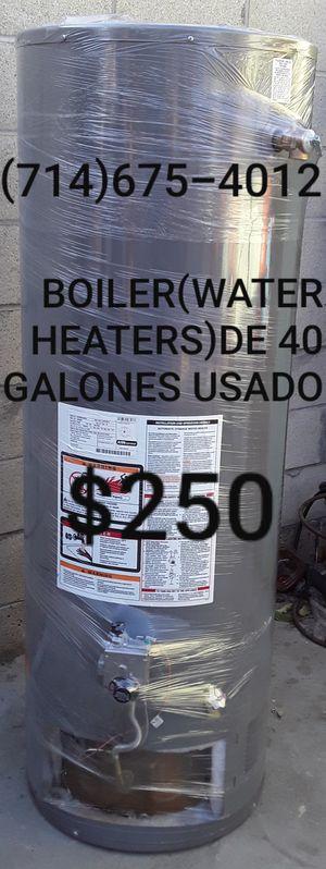 BOILER(WATER HEATERS)DE 40 GALONES USADO DE LA MARCA RHEEM!!!!!!!!! for Sale in Santa Ana, CA
