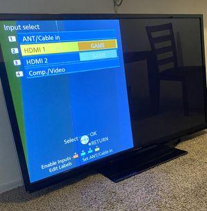 60 inch Panasonic Plasma TV, model #TC-P60U50 for Sale in Los Angeles, CA
