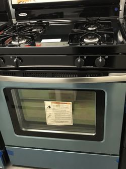 AMANA GAS STOVE STAINLESS STEEL BRAND NEW OPEN BOX 4 Burners for Sale in Moreno Valley,  CA