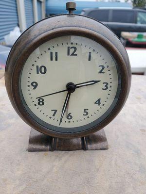 Bronze clock w Alarm for Sale in Norfolk, VA