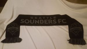 Seattle SOUNDERS FC SOCCER SCARF BLACK AND GRAY for Sale in Everett, WA
