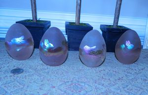 Gorgeous Collectible Arthur Court Glass Easter Eggs for Sale in Cumming, GA