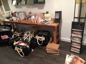 Mary Kay! Older post. Check newer post for pics of what is left. Trays. Foundations, powders, brushes, bags for Sale in Los Angeles, CA