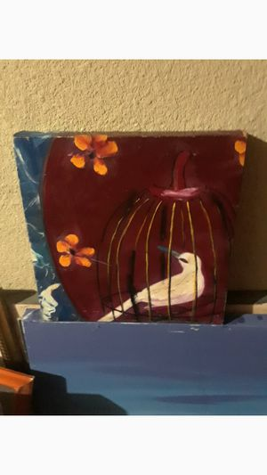 Bird in cage wall decor $15.00 cash only (serious buyers) for Sale in Dallas, TX