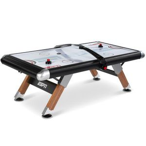 ESPN belham collection 8ft air powered hockey table with overhead electronic scorer and table cover for Sale in Austin, TX