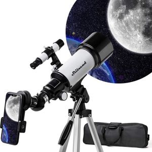 Telescope 70mm Aperture 500mm AZ Mount, Astronomical Refractor Telescope Aperture for Kids Adults & Beginners, Fully Multi-Coated Optics,Portable Refr for Sale in Annandale, VA