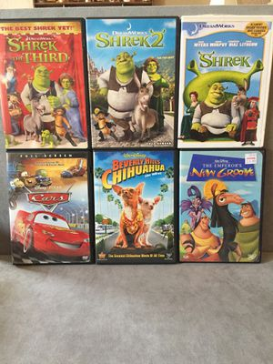 5 Dvd's as listed below for Sale in Mesquite, TX