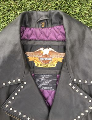 Ladies XS Harley Davidson Leather Riding Jacket for Sale in Chula Vista, CA