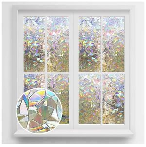 Rabbitgoo Window Privacy Film Rainbow Window Clings 3D Decorative Window Vinyl Eb for Sale in Fontana, CA