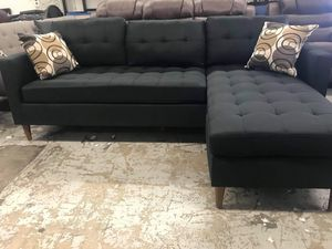 New black sectional couch /$50 down for Sale in Santa Monica, CA