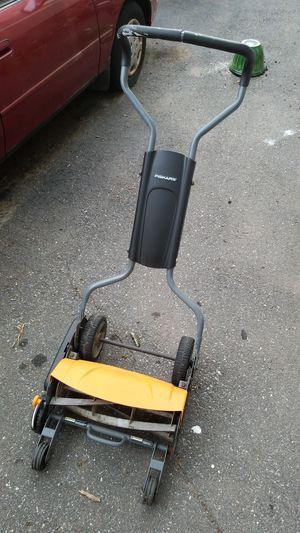 Fiskars push lawn mower for Sale in Lowell, MA