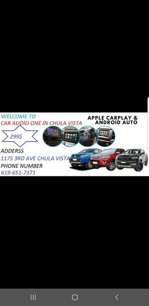 Car stereo double din touchscreen Bluetooth usb apple carplay Android auto for Sale in Chula Vista, CA