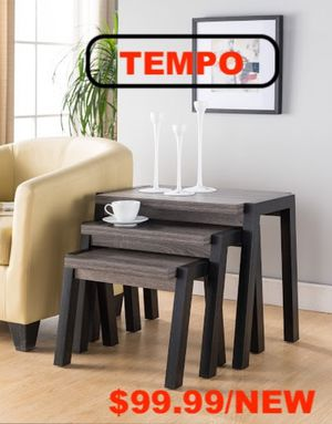Kyla 3 pcs End Table, Distressed Gray and Black, SKU # 161610-X3 for Sale in Bell Gardens, CA