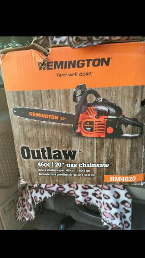 """20"""" 46cc Remington Outlaw Chainsaw for Sale in Princeton, NC"""