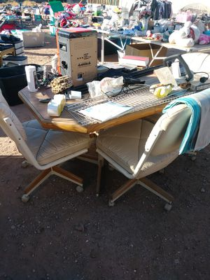 Kitchen table 4chairs.reduced price 20$ for Sale in Apache Junction, AZ