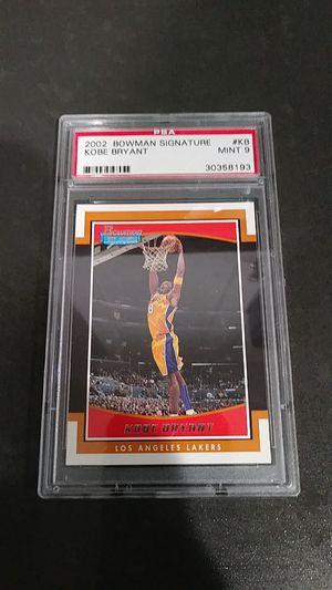 2002 Kobe Bryant Bowman signature card for Sale in Montebello, CA