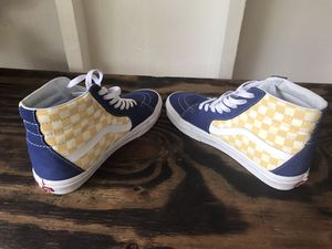 Vans Sk8-Hi BMX checkerboard Blue & Yellow for Sale in Columbus, OH