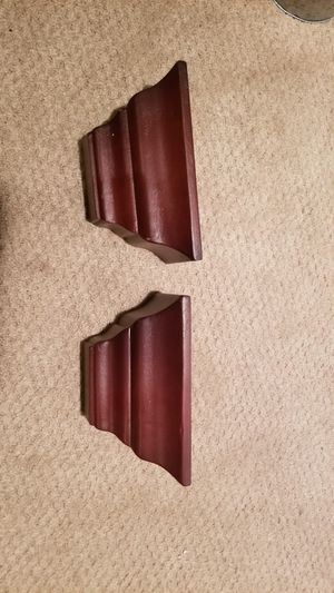 2 brown wall shelves small for Sale in Leesburg, VA