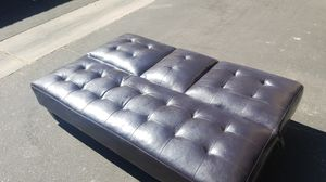 Brown leather futon for Sale in Glendale, AZ