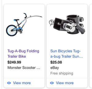 Tug a bug foldable trailer bike for Sale in Fort Lauderdale, FL