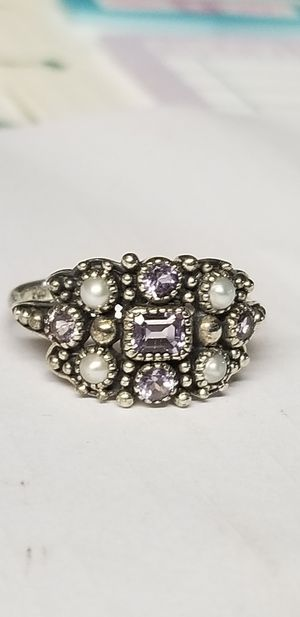 Amethyst and pearl ring for Sale in Tampa, FL