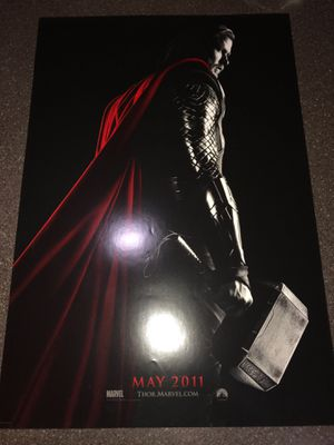 Thor Movie Poster Theater Giveaway Marvel Disney Avengers Chris Hemsworth 13x20 Mint for Sale in Mesa, AZ