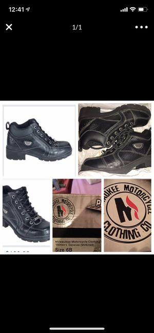 Brand New In Box Woman's Milwaukee Motorcycle Clothing Co. Boots Size 6B! for Sale in Philadelphia, PA