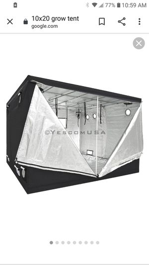 10x20 grow tent for Sale in Sacramento, CA