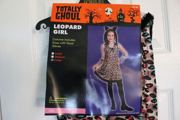 Totally Ghoul Leopard Girl Halloween Costume Girl's Size Large - New with Tag